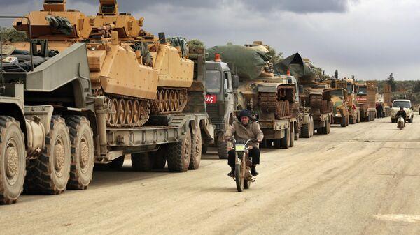 Турецкая военная техника в провинции Идлиб