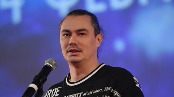 Режиссер Жора Крыжовников на премьере фильма Лёд 2