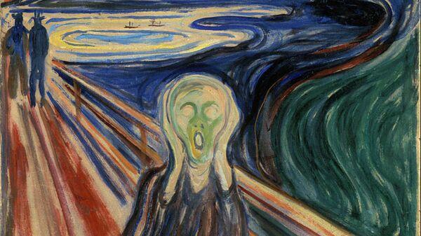 Версия картины Эдварда Мунка Крик 1910 года