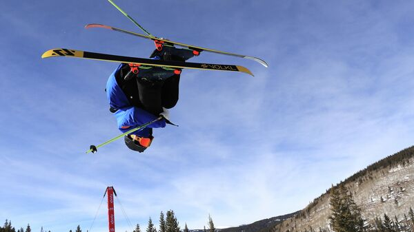 COPPER MOUNTAIN, COLORADO - DECEMBER 11: Bingqiang Mao of China competes during the Men's Freeskiing Halfpipe Qualifier on December 11, 2019 in Copper Mountain, Colorado.   Sean M. Haffey/Getty Images/AFP