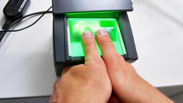 Демонстрация процедуры снятия биометрических данных