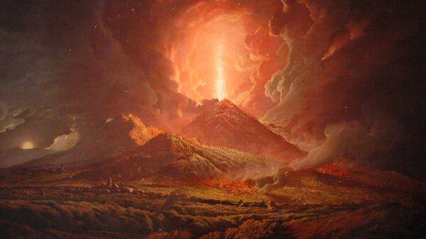 Картина Джозефа Райта Извержение Везувия