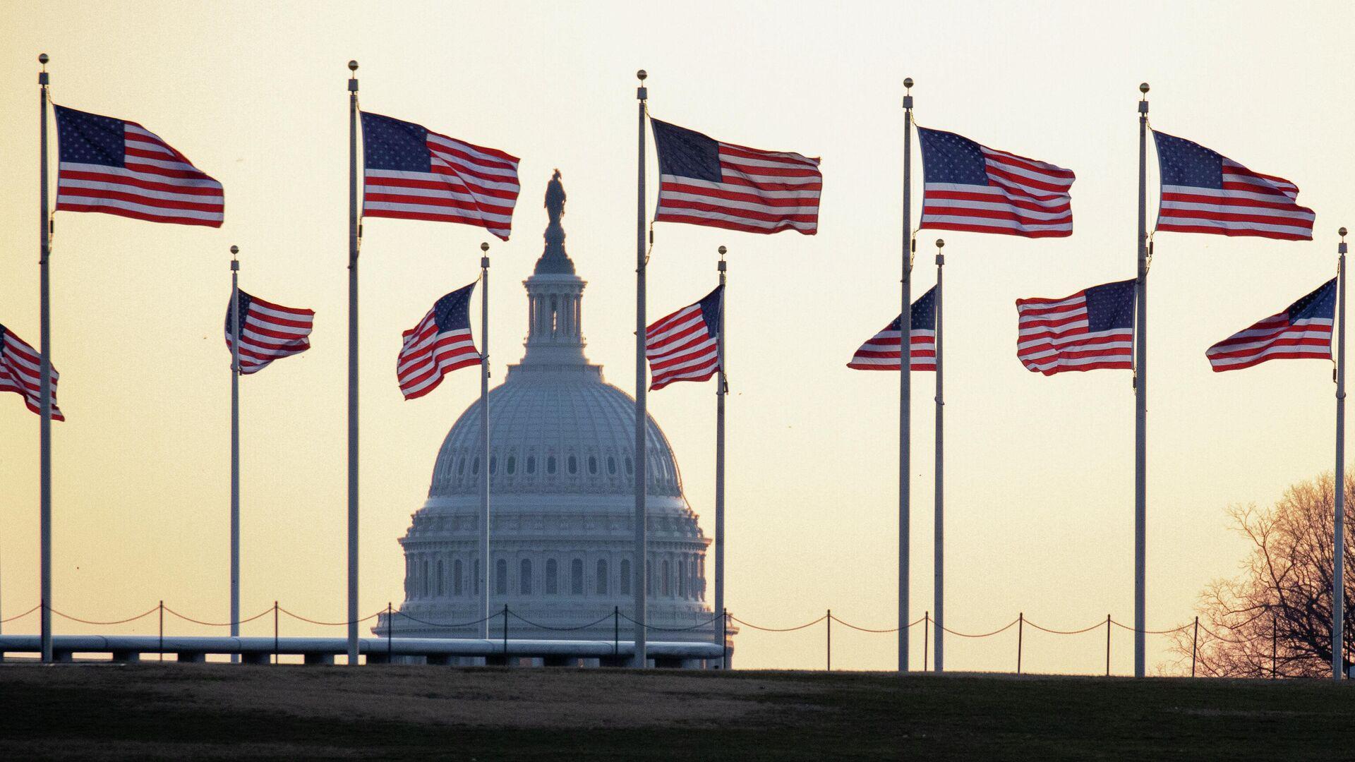 Американские флаги в Вашингтоне - РИА Новости, 1920, 02.10.2021
