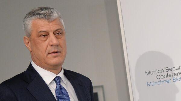 Президент самопровозглашенного Косово Хашим Тачи на Мюнхенской конференции по безопасности