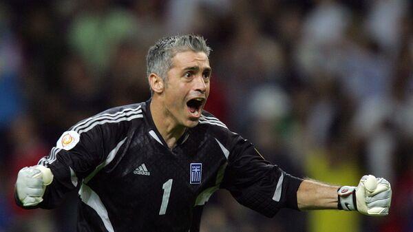ЕВРО-2004. Голкипер сборной Греции Антонис Никополидис