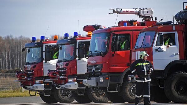 Учения по отработке действий при аварийной ситуации в аэропорту Домодедово