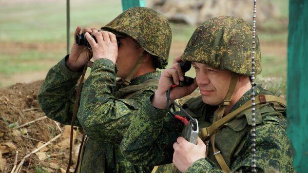 Военнослужащие Народной милиции ЛНР