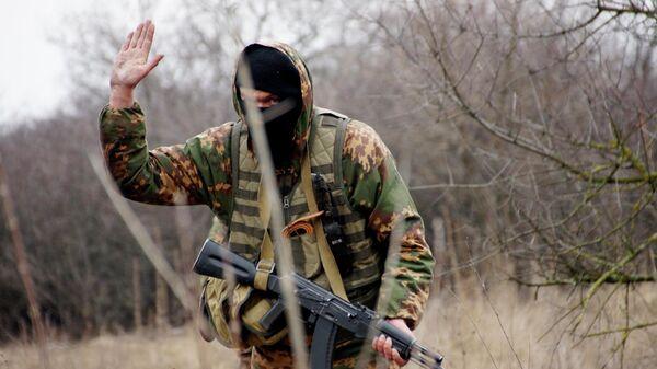 Военнослужащий разведывательного подразделения Народной милиции ЛНР