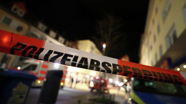 На месте стрельбы в Ханау около Франкфурта, Германия. 20 февраля 2020