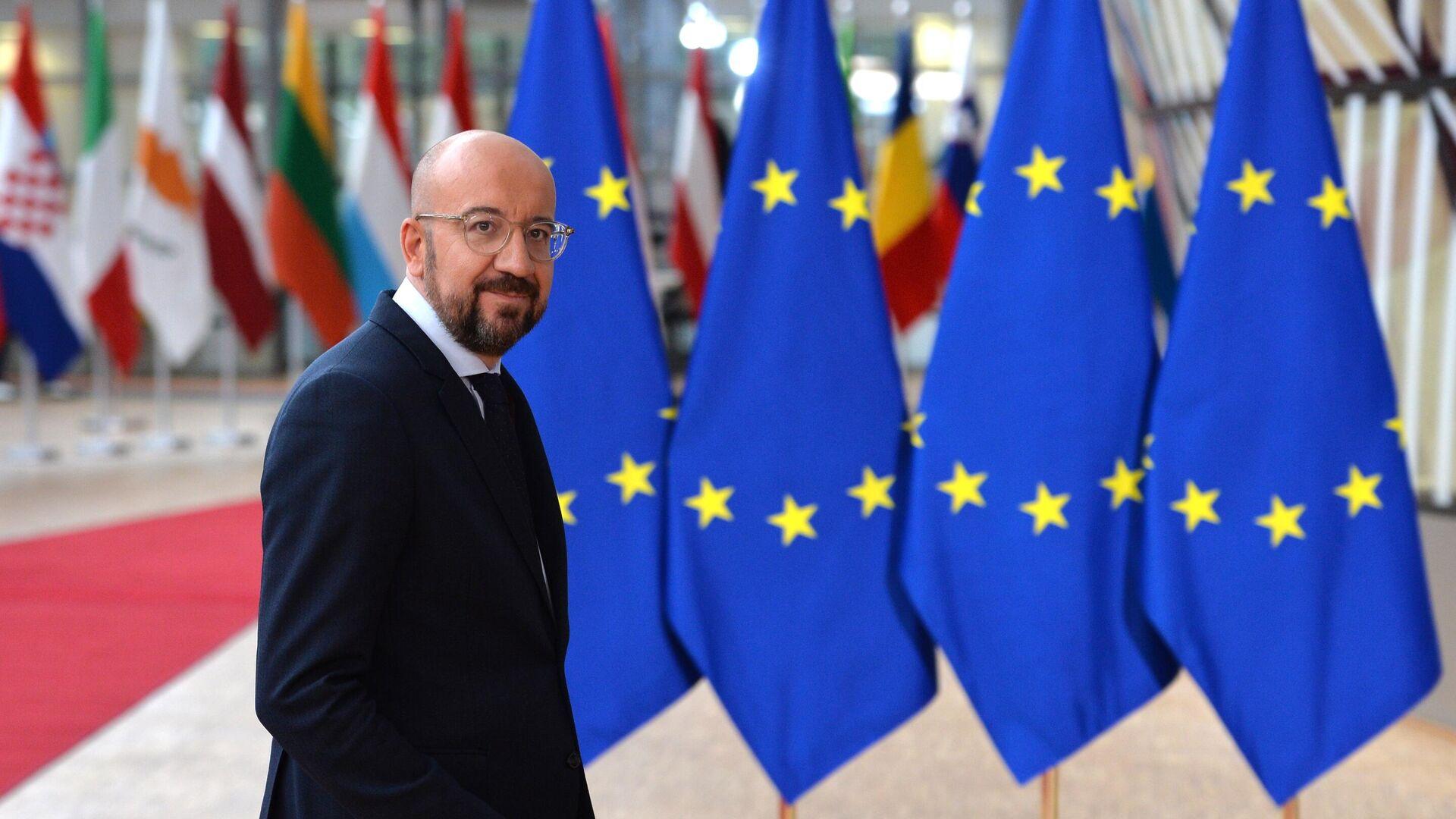Президент Европейского совета Шарль Мишель на саммите ЕС в Брюсселе - РИА Новости, 1920, 11.12.2020