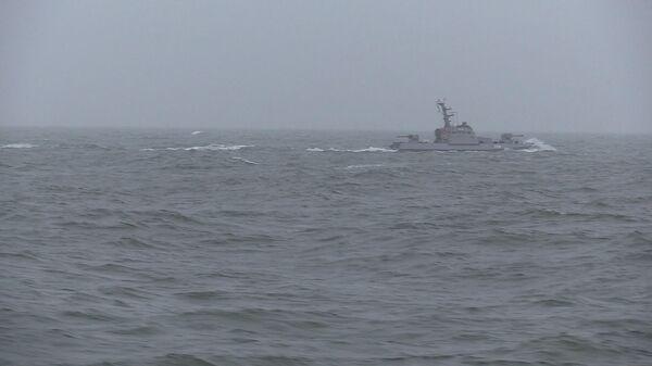 Украинский военный корабль в Азовском море