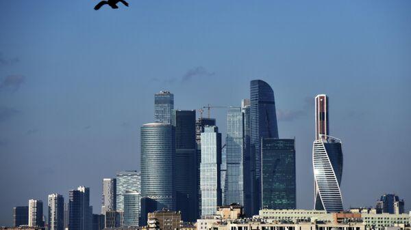 Небоскребы делового центра Москва-сити