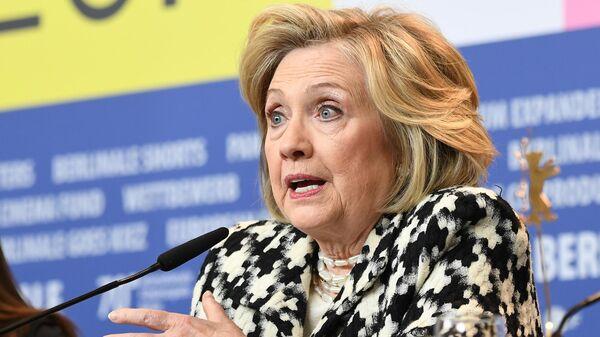 Бывший государственный секретарь США и первая леди Хилари Клинтон