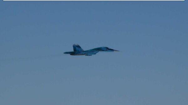 Минобороны Японии опубликовало фото сопровождения Су-34