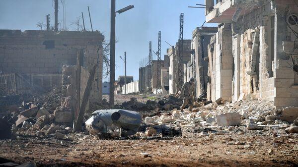Ситуация в населенном пункте ад-Дейр аш-Шаркий в Сирии