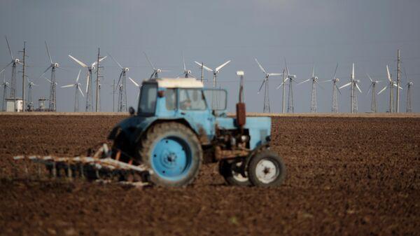 Ветрогенераторы на Мирновской ветроэлектростанции в Крыму
