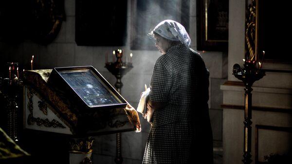 Богослужение в Покровском соборе Великого Новгорода