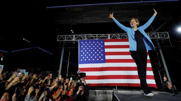 Кандидат в президенты США, сенатор Элизабет Уоррен