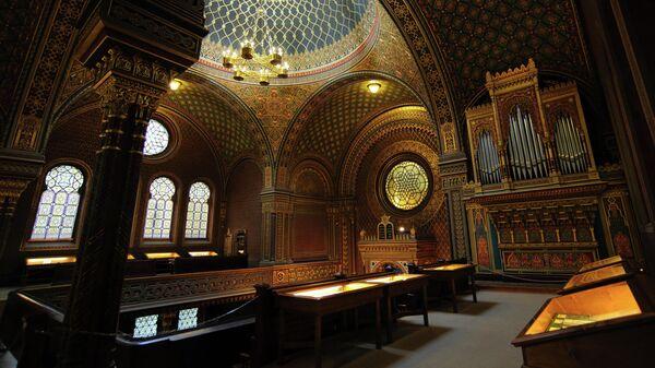 Интерьер Испанской синагоги в Праге