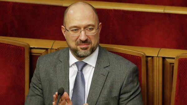 Денис Шмыгаль на внеочередном заседании Верховной рады Украины в Киеве