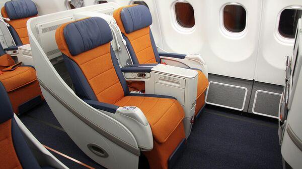 Салон самолета авиакомпании Аэрофлот