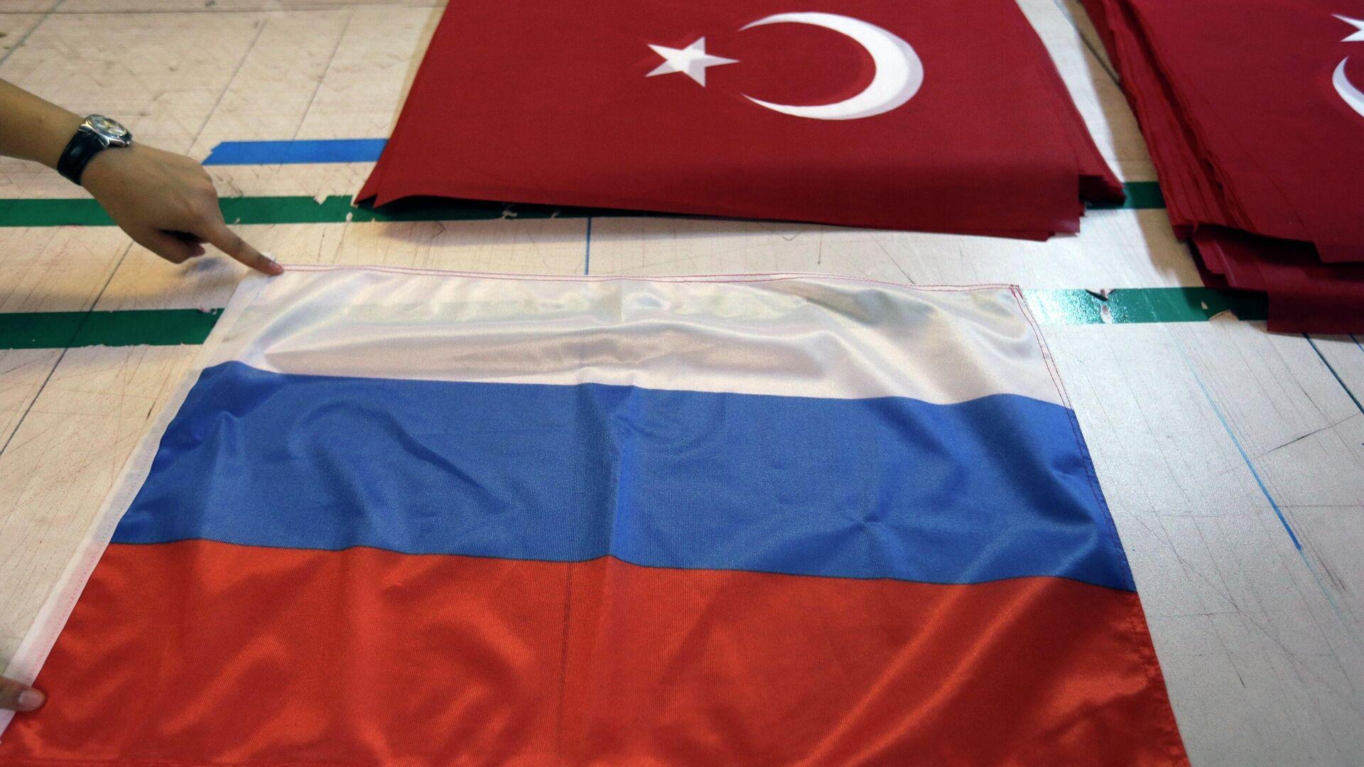 Фабрика по производству флагов в Стамбуле - РИА Новости, 1920, 29.09.2021