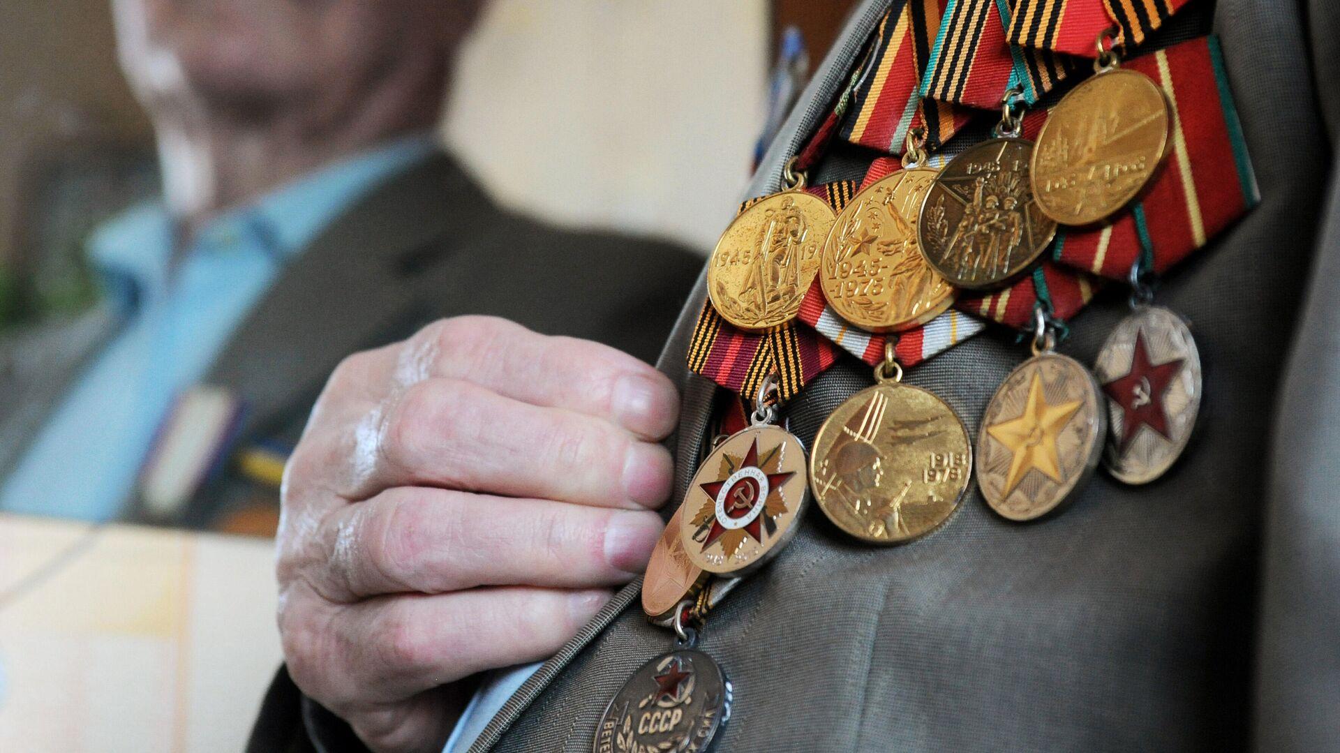 Боевые награды ветерана Великой Отечественной войны - РИА Новости, 1920, 11.12.2020