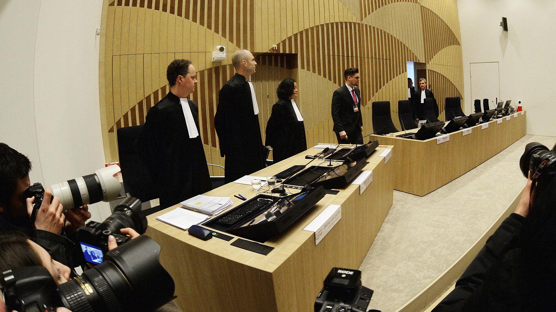 Начало заседания суда в нидерландском Бадхоеведорпе по делу о крушении самолета Boeing 777 рейса MH17 - РИА Новости, 1920, 05.11.2020