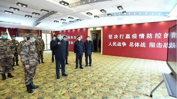 Председателя КНР Си Цзиньпин во время визита в Ухань