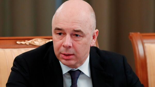 Министр финансов РФ Антон Силуанов на заседании правительства