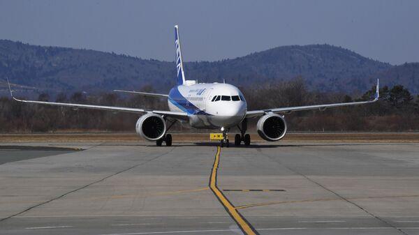 Встреча первого рейса японской компании ANA во Владивостоке