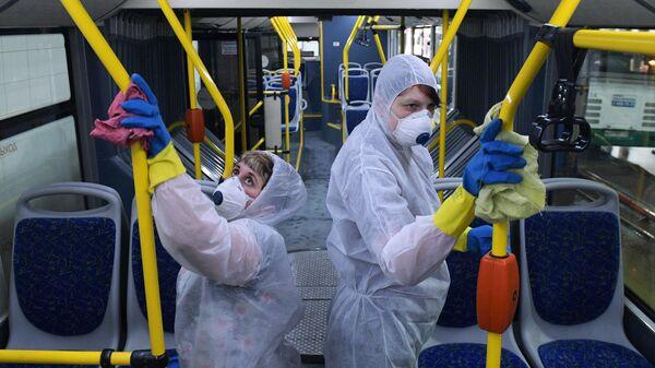 Санитарная обработка автобусов компании СПб ГУП Пассажиравтотранс в Санкт-Петербурге