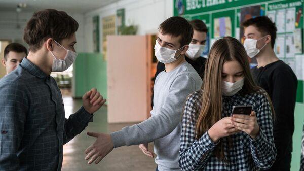 Учащиеся одной из гимназий Омска