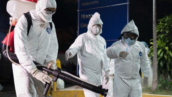 Дезинфекция больницы в Каракасе