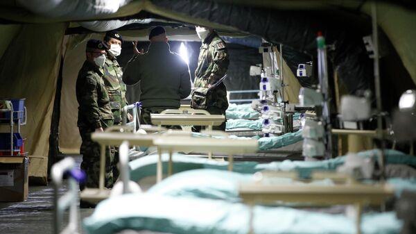 Французские военные в полевом госпитале в Мюлузе