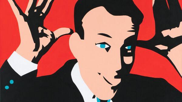 Константин Латышев Эта картина удовлетворяет нас двумя руками и языком, 2010 год. Холст, акрил, 100 x 80 см