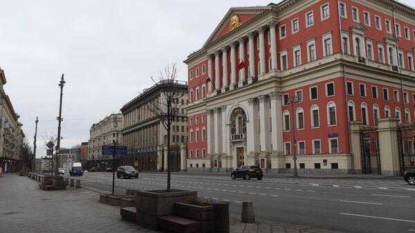 Здание Московской мэрии на Тверской улице