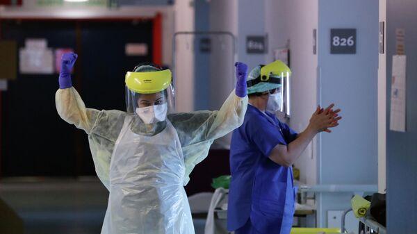 Медики в больнице в Брюсселе