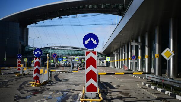 Территория у терминала D Международного аэропорта Шереметьево