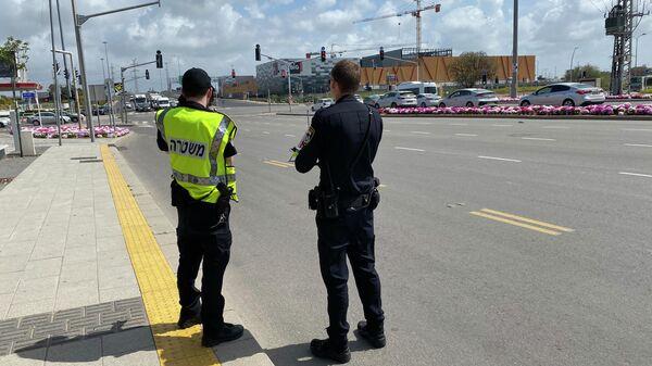 Полицейские в городе Ашдод, Израиль