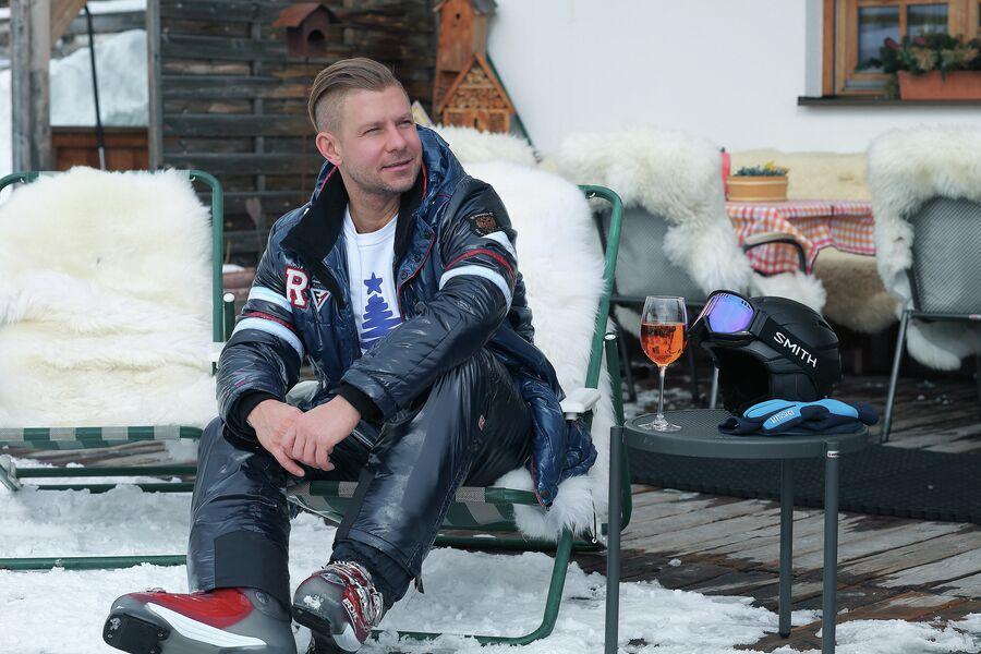Митя Фомин на горнолыжном курорте Лех в Австрии