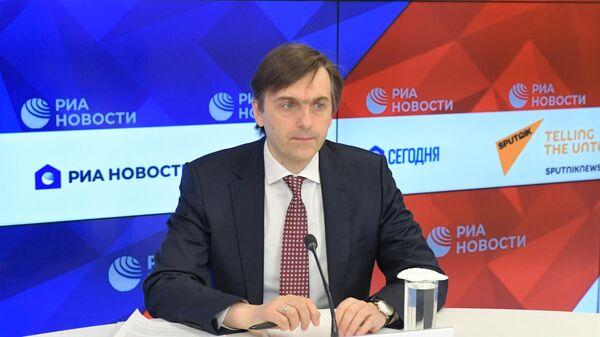 Министр просвещения РФ Сергей Кравцов во время онлайн-конференции в Международном мультимедийном пресс-центре МИА Россия сегодня