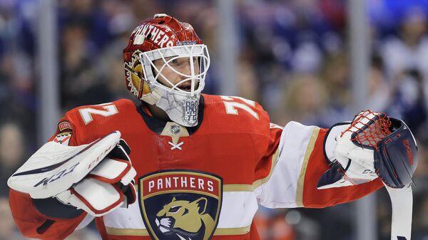 Голкипер клуба НХЛ Флорида Сергей Бобровский