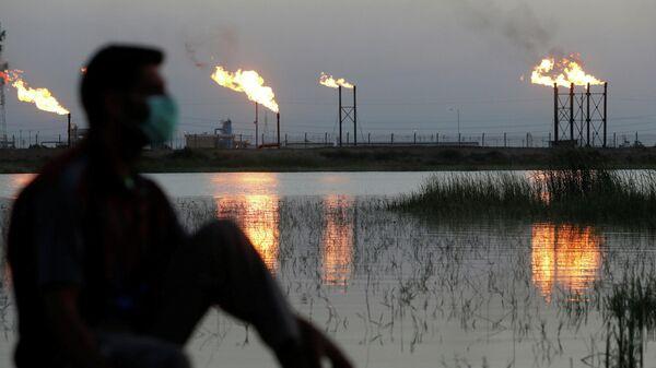 Нефтяное месторождении Нахр Бин Умар в Басре, Ирак
