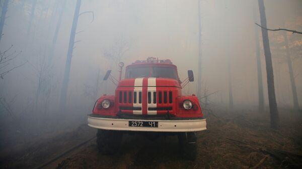 Пожарный автомобиль на Украине