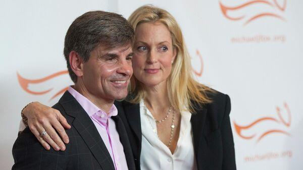 Ведущий шоу Доброе утро, Америка Джордж Стефанопулос и его жена актриса Эли Уэнтуорт