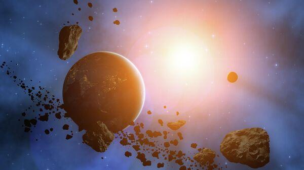 Планета окруженная астероидами