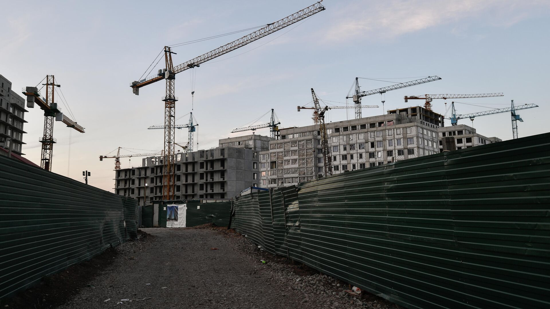 Строительство жилого комплекса - РИА Новости, 1920, 03.08.2021