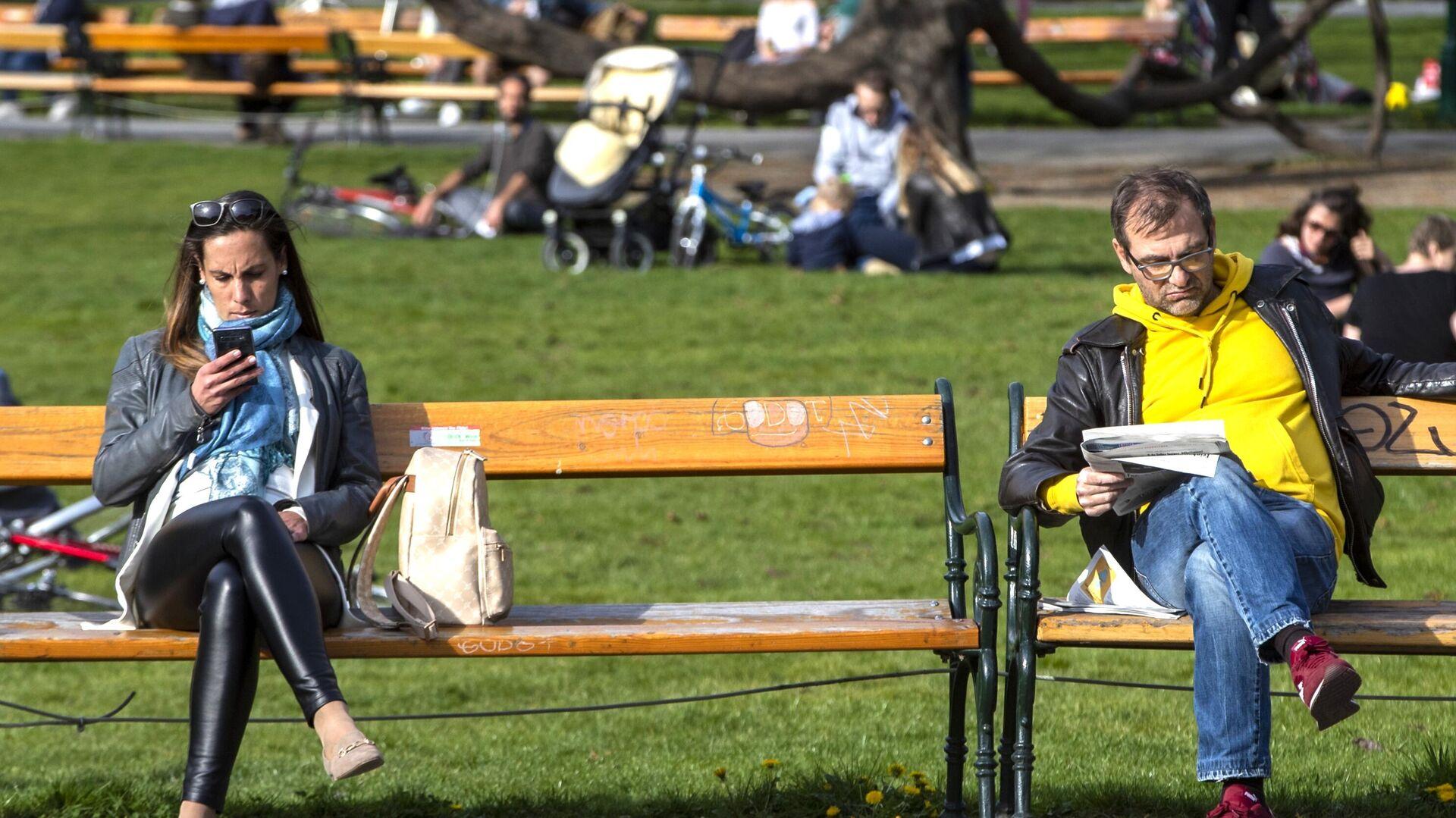 Горожане в парке в Вене - РИА Новости, 1920, 02.08.2021