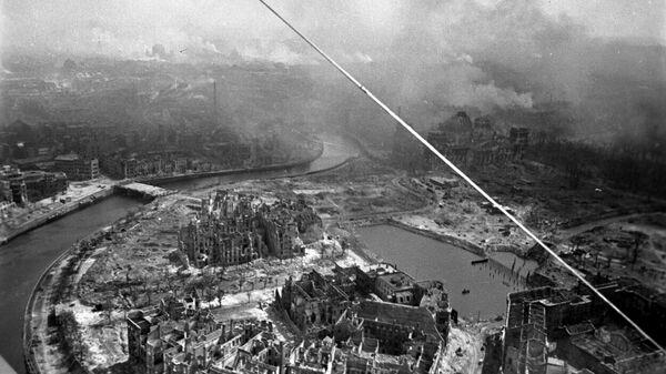 Вид с самолета на Берлин. Май 1945 года